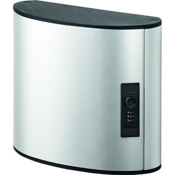 "Durable® Brushed Aluminum Combo Lock 54-Key Cabinet, 11-3/4"" W x 11"" H x 4-5/8"" D"