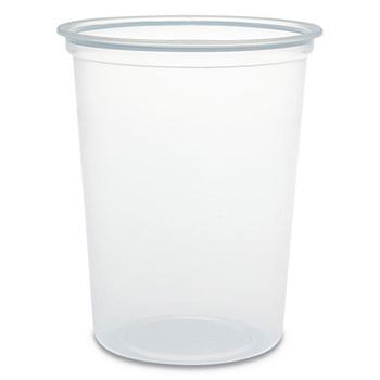 Microgourmet Plastic Deli Container, 32 oz, Clear, 500/Carton
