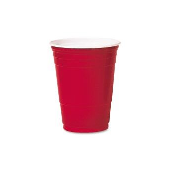 Dart® Party Cups, Plastic, Red, 16oz., 50/Pack