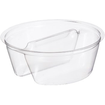 Dart® Grab 'n' Go Cup Insert, 2 Compartments, PETE, Clear, 1.5 oz., 1000/CS