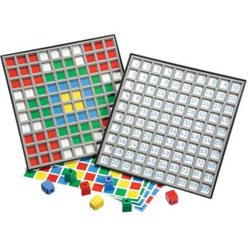 Didax Unifix Hundred Number Grid Tray, Grade K - 6