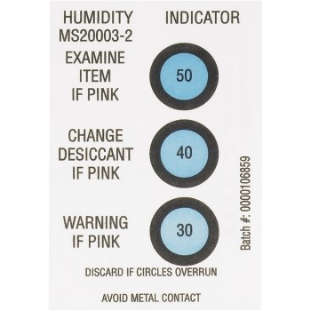 "W.B. Mason Co. Humidity Indicators, 30-40-50%, 2"" x 3"", White, 125/CS"