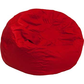Oversized Bean Bag Chair, Solid Red