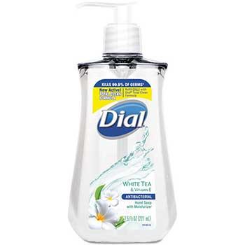 Antimicrobial Liquid Soap, 7.5 oz. Pump Bottle, White Tea