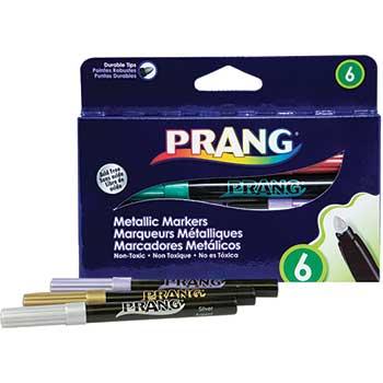 Prang® Metallic Art Markers, Bullet Tip, 6/CT