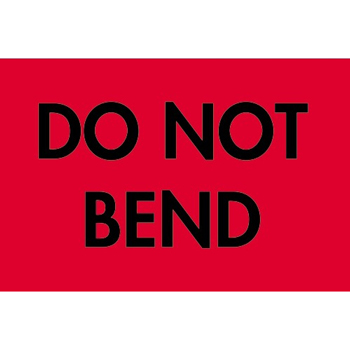 "Labels, Do Not BenD, 2"" x 3"", Fluorescent Red, 500/RL"
