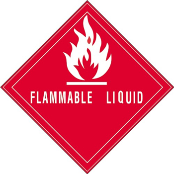 """Tape Logic® Labels, Flammable LiquiD, 4"""" x 4, Red/White, 500/RL"""