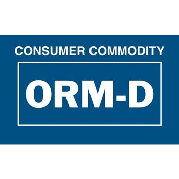 "Tape Logic® Labels, Consumer Commodity ORM-D, 1 3/8"" x 2 1/4"", Blue/White, 500/RL"