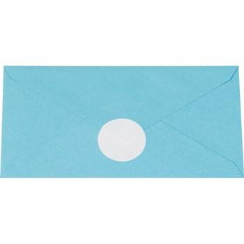 "W.B. Mason Co. Circle Paper Mailing Labels, 1 1/2"", White, 5000/RL"