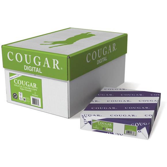 "Domtar Cougar® Digital Color Copy Text, 80 lb., 12"" x 18"", White, 1200/CT"