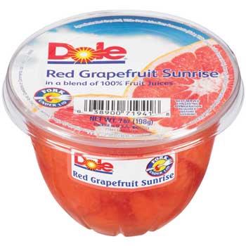 Dole Red Grapefruit Cup, 7 oz., 12/CS
