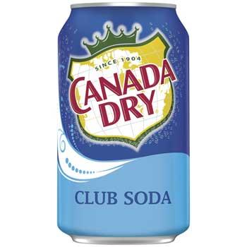 Canada Dry® Club Soda, 12 oz. Can, 24/CT