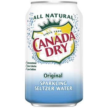 Canada Dry® Seltzer Water, Original, 12 oz. Can, 24/CS