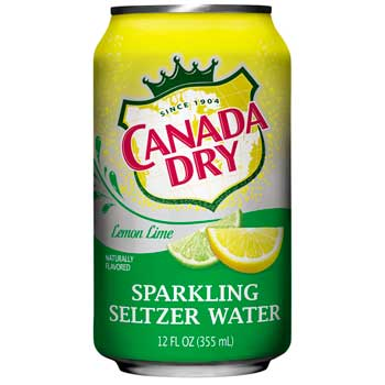 Canada Dry® Seltzer Water, Lemon Lime, 12 oz. Can, 12/PK