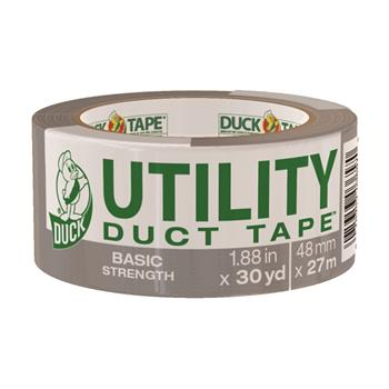 """Duck® Basic Strength Duct Tape, 5.5mil, 1.88"""" x 30yd, 3"""" Core, Silver"""