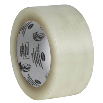 "Commercial Grade Acrylic Packaging Tape, 2"" x 110 Yards, 1.9 Mils, Clear, 6 Rolls/Pack"