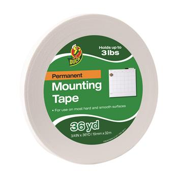 "Duck® Permanent Foam Mounting Tape, 3/4"" x 36yds"