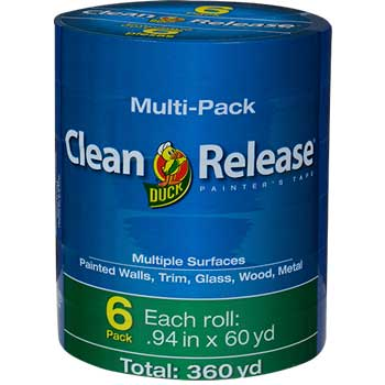 Duck® Clean Release® Painter's Tape, 0.94 x 60 yds, Blue, 6/PK