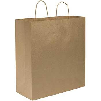 "Duro Bag Cargo Shopping Bag, Kraft, 18"" x 7"" x 18.75"", 70 Lb., 200/CT"
