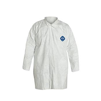 Tyvek® 400 Collared Frock, Open Wrists, White, Medium, 30/CS