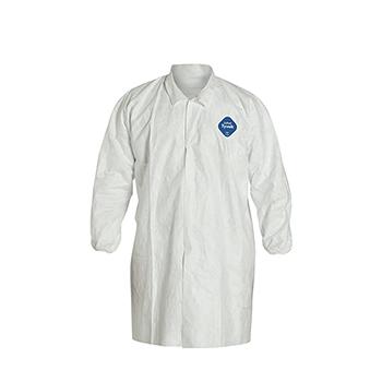 Tyvek® 400 Collared Frock, Elastic Wrists, White, X-Large, 30/CS