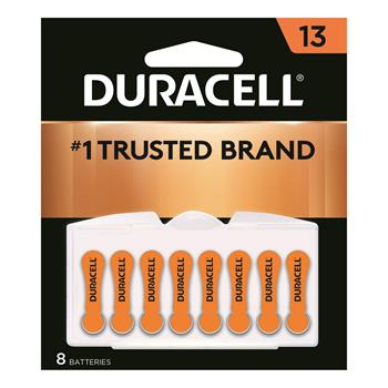 Duracell® Size 13 Hearing Aid Batteries, 8/PK