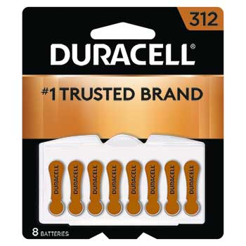 Size 312 Hearing Aid Batteries, 8/PK