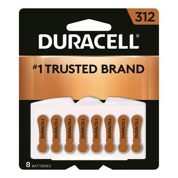 Duracell® Size 312 Hearing Aid Batteries, 8/PK