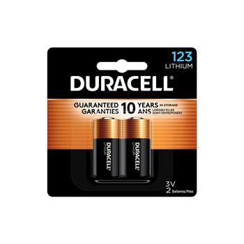 Duracell® 123 3V Lithium Battery, 2/PK