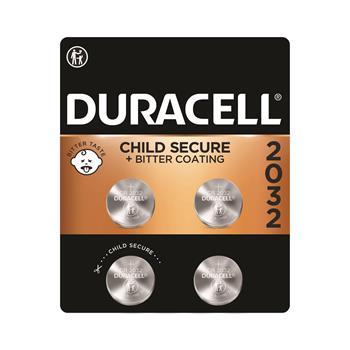 Duracell® 2032 3V Lithium Coin Battery, 4/PK