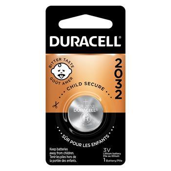 Duracell® 2032 3V Lithium Coin Battery, 6/BX