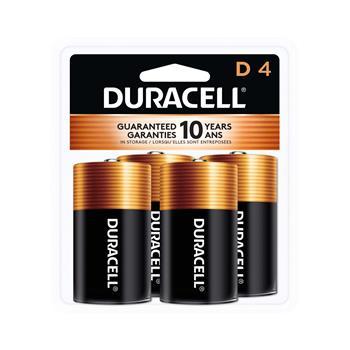 Duracell® Coppertop® D Alkaline Batteries, 4/PK