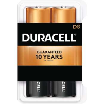 Coppertop® D Alkaline Batteries, 8/PK