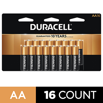 Coppertop® AA Alkaline Batteries, 16/PK