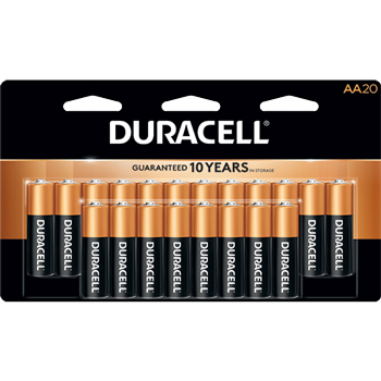 Coppertop® AA Alkaline Batteries, 20/PK