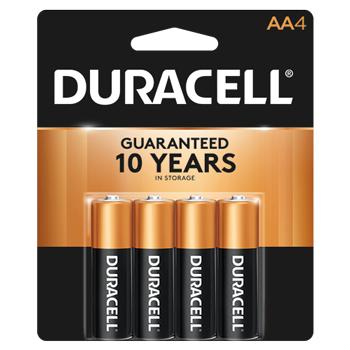 Coppertop® AA Alkaline Batteries, 4/PK