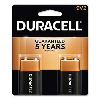 Coppertop® 9V Alkaline Batteries, 2/PK