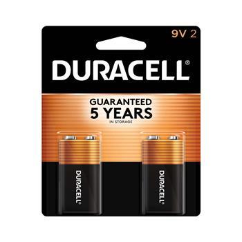 Duracell® Coppertop® 9V Alkaline Batteries, 2/PK
