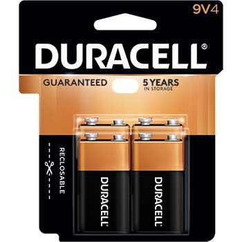 Coppertop® 9V Alkaline Batteries, 4/PK