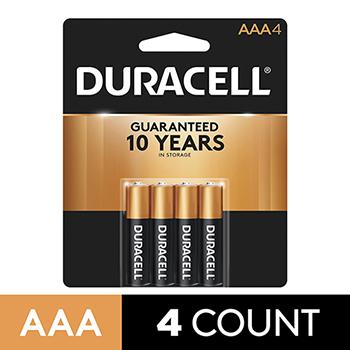 Coppertop® AAA Alkaline Batteries, 4/PK