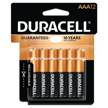 Coppertop® AAA Alkaline Batteries, 12/PK