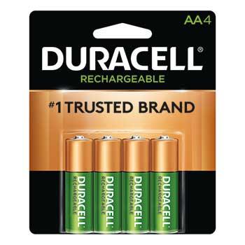 Rechargeable AA NiMH Batteries, 4/PK