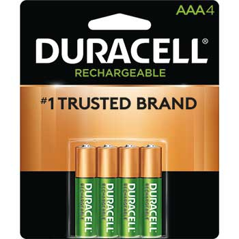 Rechargeable AAA NiMH Batteries, 4/PK