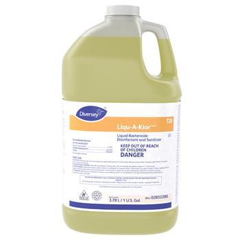 Diversey™ Liqu-A-Klor Disinfectant/Sanitizer, 1 gal Bottle, 4/Carton
