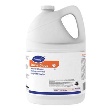 Diversey™ Stride Neutral Cleaner, Citrus, 1 gal, 4 Bottles/Carton