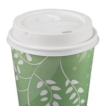Dome Drink-Thru Lids, Fits 10, 12 & 16 oz (Large) Paper Hot Cups, 50/PK