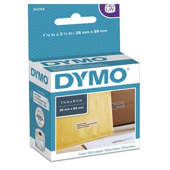 DYMO® LabelWriter Address Labels, 1 1/8 x 3 1/2, Clear, 130 Labels/Roll