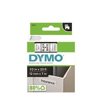 DYMO® D1 Standard Tape Cartridge for Dymo Label Makers, 1/2in x 23ft, Black on White