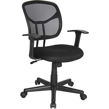 Essentials Mesh Swivel Task Chair with Arms, Black