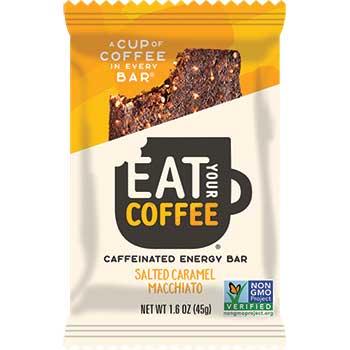 Eat Your Coffee® Salted Caramel Macchiato Caffeinated Energy Bar, 15/BX